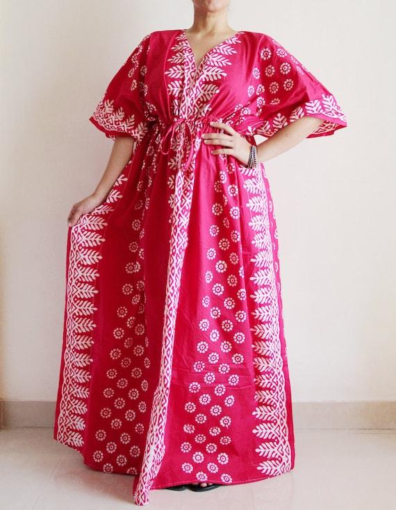 Cotton Kaftan Caftan Maxi Dress Indian Dress Summer Dress Etsy