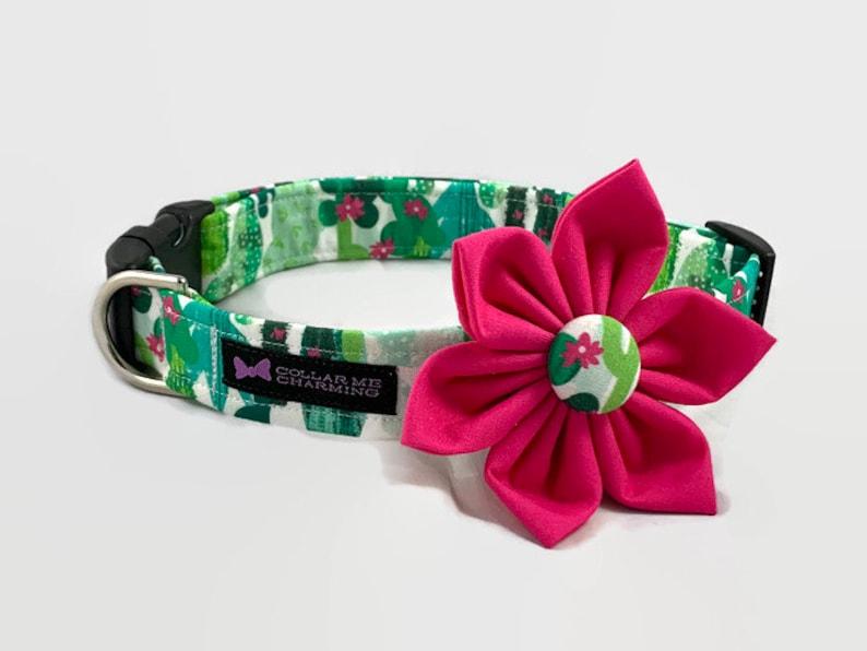 Dog Collar Flower Set Cacti image 0