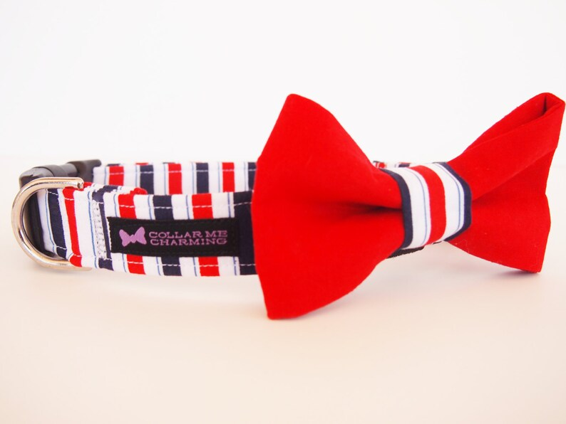 Dog Collar Bow Tie Set American Pie Special Edition image 0