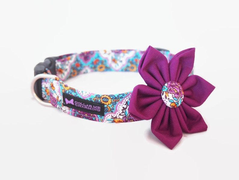 Dog Collar Flower Set Vintage image 0