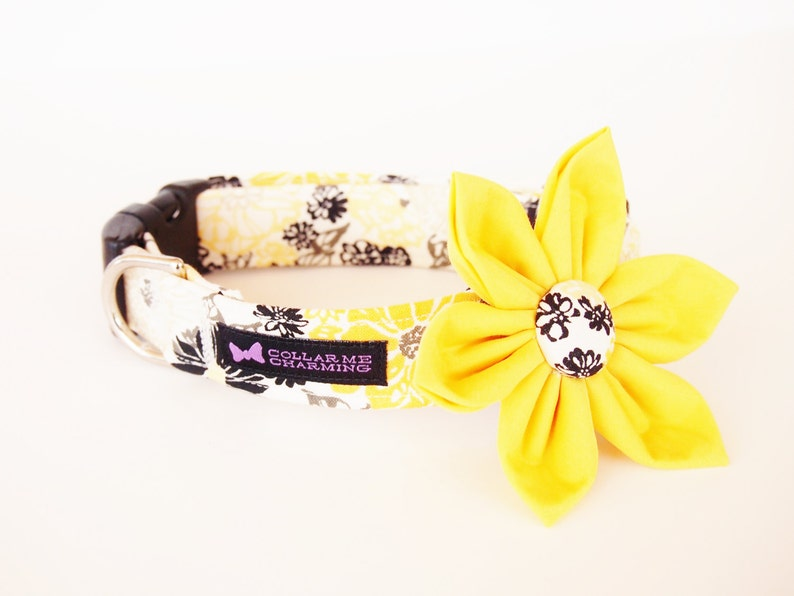 Yellow Dog Collar Flower Set Blossom image 0