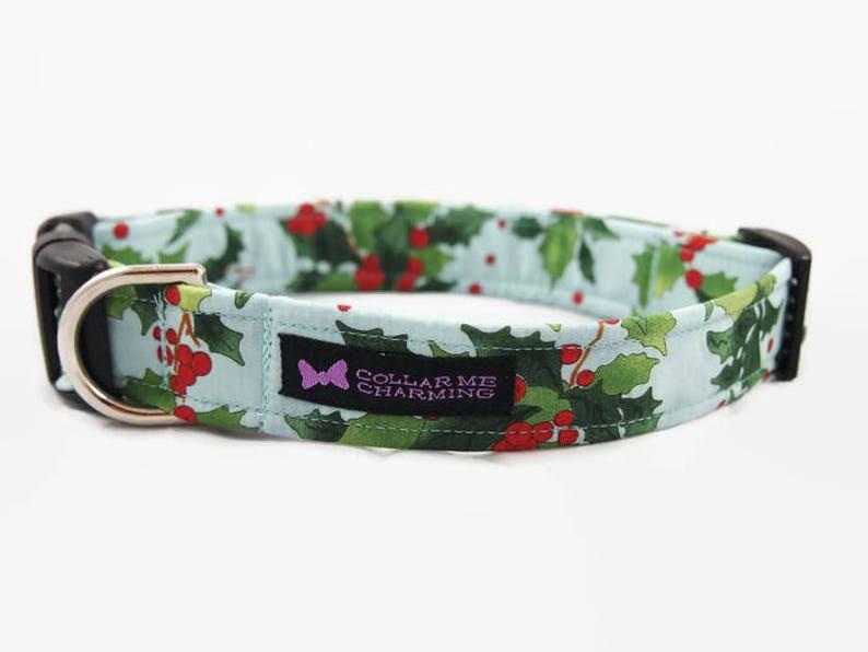 Christmas Dog Collar Holly image 0