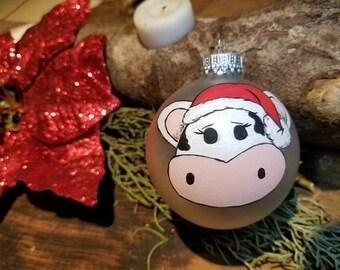 custom hand painted christmas ornament