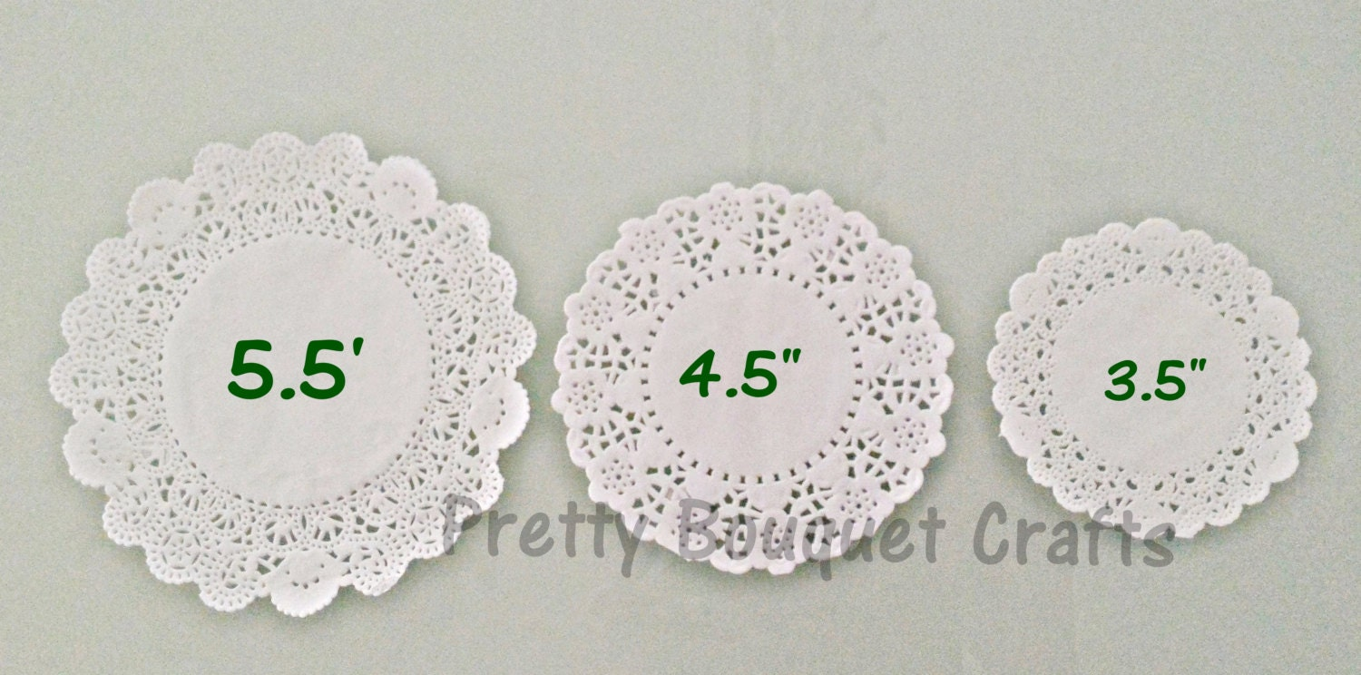 White French Lace Paper Doilies35 Etsy Doyleys 50