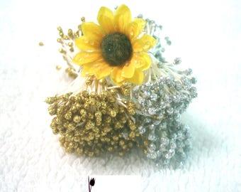 Glitter Stamens|Gold Glitter Stamens|Silver Glitter Stamens| Sugarcraft Gumpaste|Butterfly Antenna|SugarCraft|Flower Stamens
