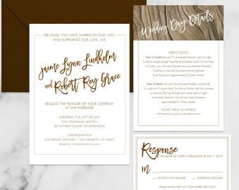Rustic Beach Wedding Invitation Bundle