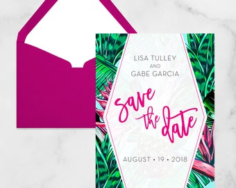 Tropical Pineapple Wedding Save the Date