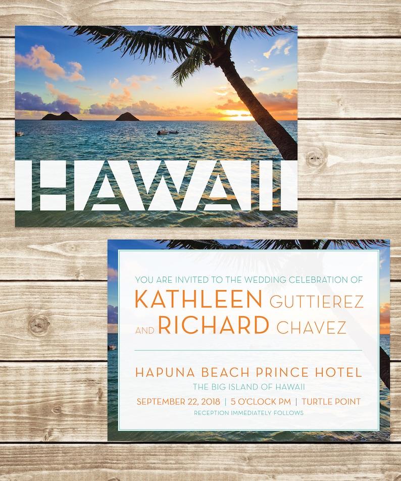 Hawaii Destination Wedding Invitation
