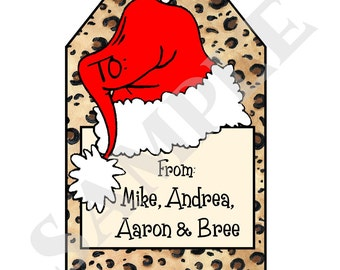 16 printed personalized christmas iii gift tags by swell etsy