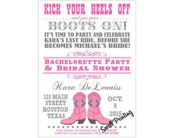 Bridal shower invitation cowgirl Etsy