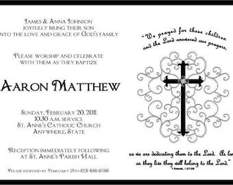 pink confirmation invitation confirmation invitation etsy