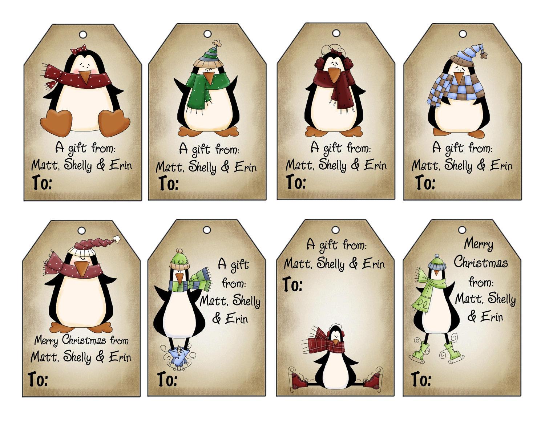 Druckbare personalisierte Winter Pinguine Weihnachten | Etsy