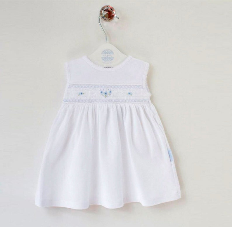 337e1fcbf679 Cute newborn outfits smocked dress going home outfit baby