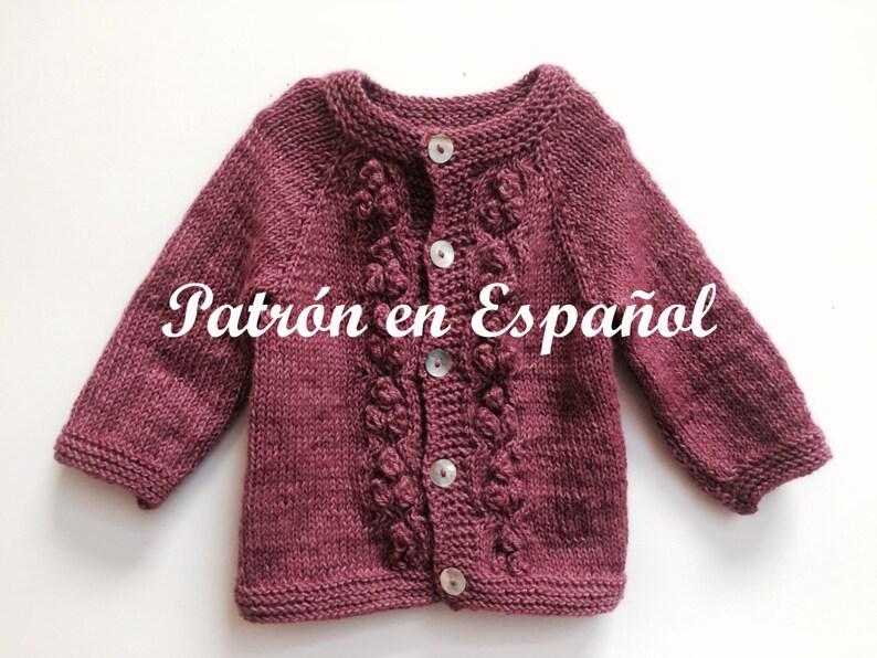 Patrn En ESPAOL Jersey De Nia Patrones A Palillo Sweater