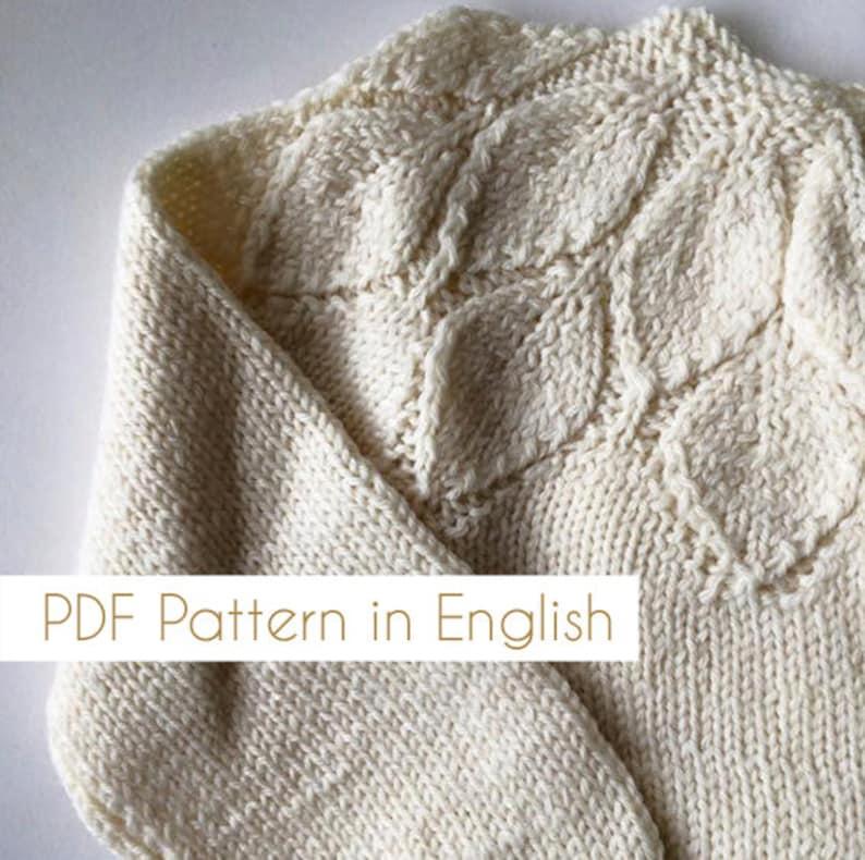 Patrn En INGLS Jersey De Nia Patrones A Palillo Sweater