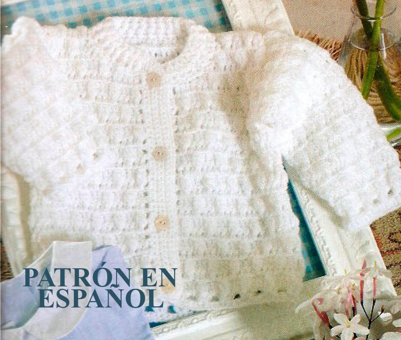 Spanish Baby crochet Pattern easy crochet Pattern Cardigan | Etsy