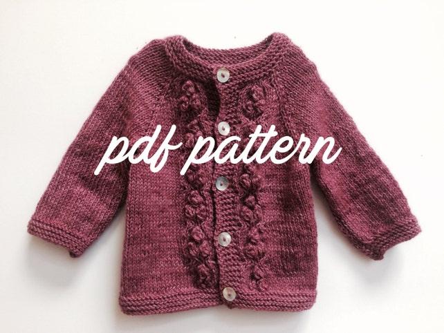 Toddler Girl knitting Pattern girl cardigan knitting pattern | Etsy