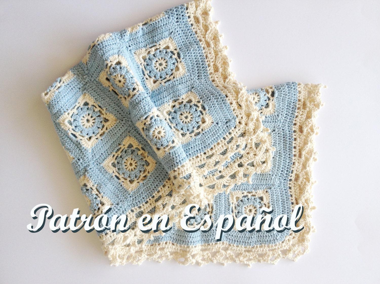 Patrón de Manta de bebé tejido a crochet patron a crochet | Etsy