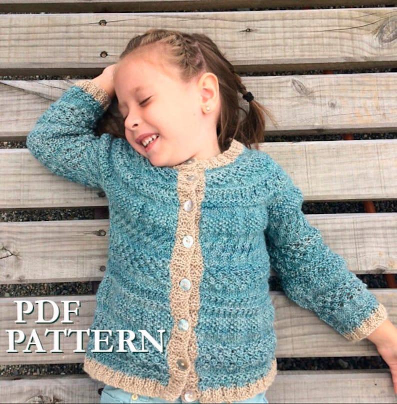 b72a71cafb7e Toddler Girl knitting Pattern girl cardigan knitting pattern