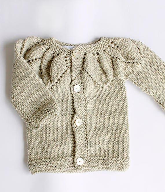 Suéter de niña tejido a mano Tejido de punto para niños y | Etsy