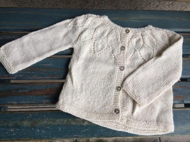 Patrón en INGLÉS jersey de niña patrones a palillo sweater | Etsy