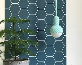Lampe, ceiling pendant lamp in jade green
