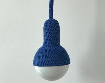 Lampe, ceiling pendant lamp in royal blue