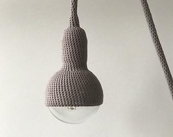 Lampe, plug in pendant lamp in grey