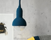 Lampe, ceiling pendant lamp in teal