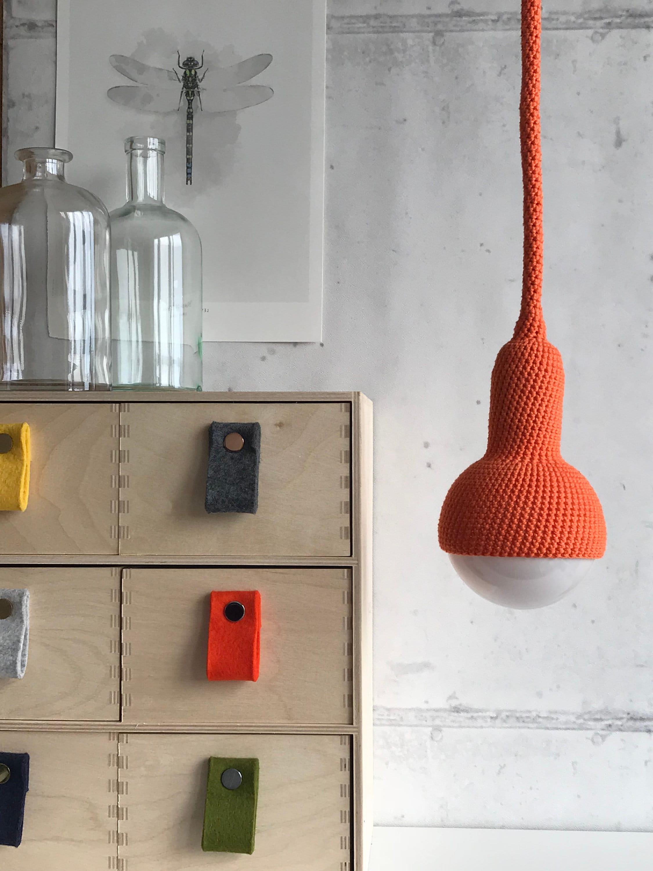 Lampe Ceiling Pendant Lamp In Orange Etsy