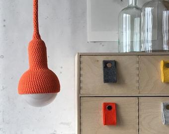 Lampe, plug in pendant lamp in orange