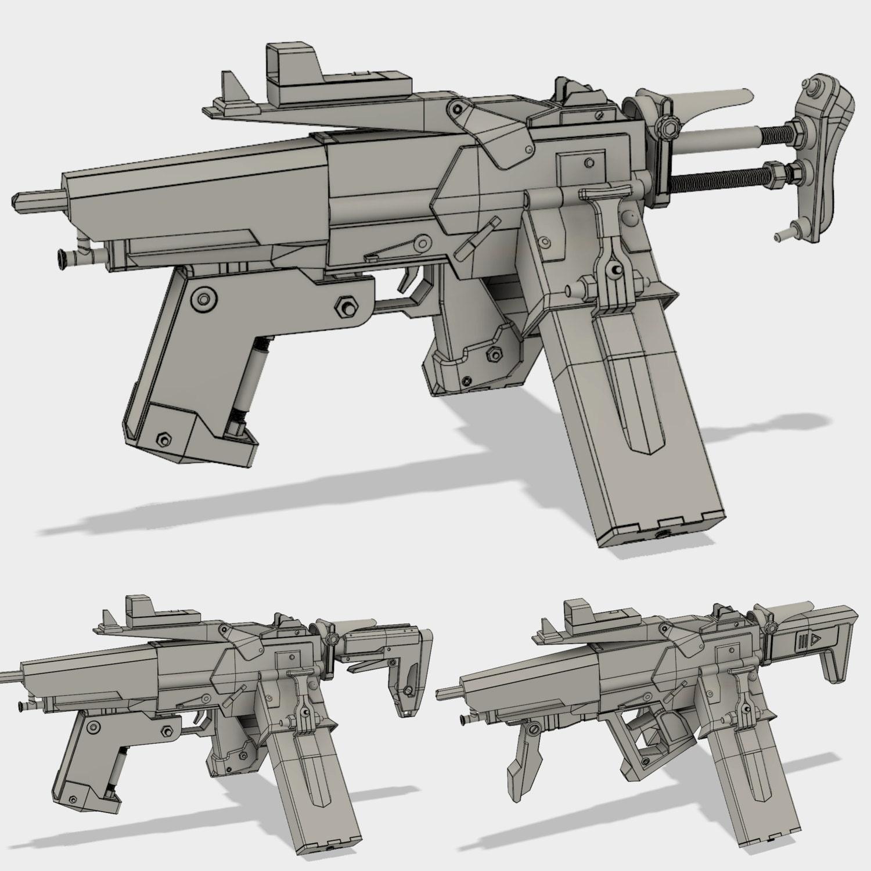 Scav Bandit Submachine Gun Model For 3d Printing
