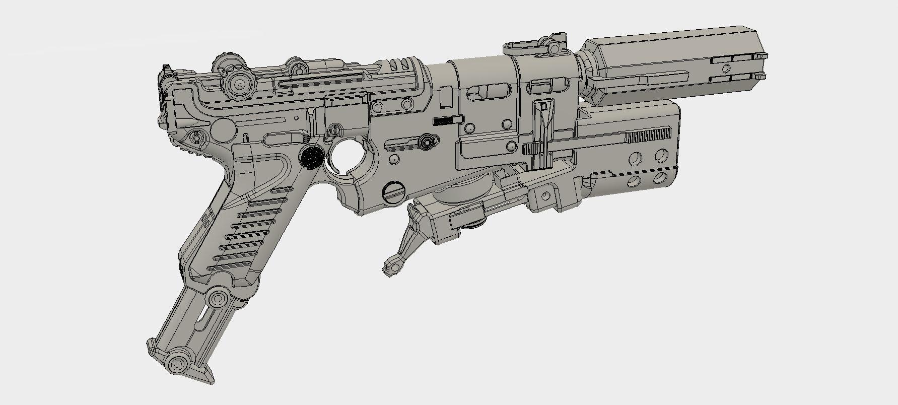 Wolfenstein II: The New Colussus Pistol (Luger 61) - Model