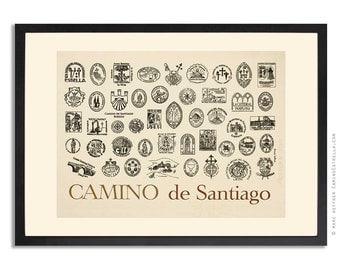 Camino de Santiago Jakobsweg Art print Poster