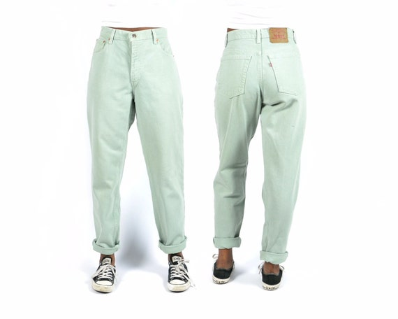 Levi's 550 Size 31 Mint Green Vintage Denim Jeans