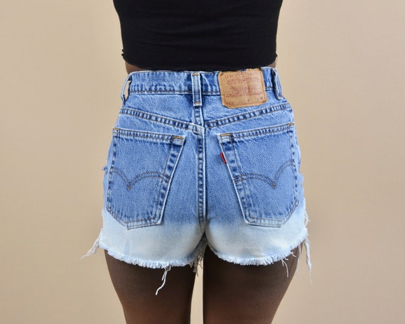 Levi's 512 Size 25 High Rise Distressed Ombre Vin… - image 1