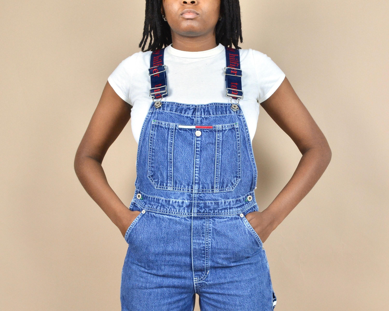 Vintage Overalls & Jumpsuits Tommy Hilfiger Size Xs Spellout Denim Dungaree Vintage Overalls $25.00 AT vintagedancer.com