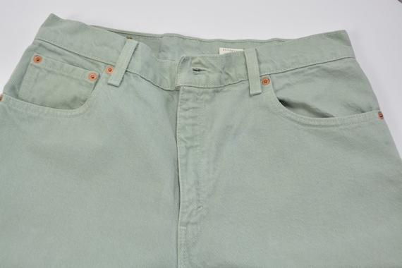 Levi's 550 Size 31 Mint Green Vintage Denim Jeans - image 5