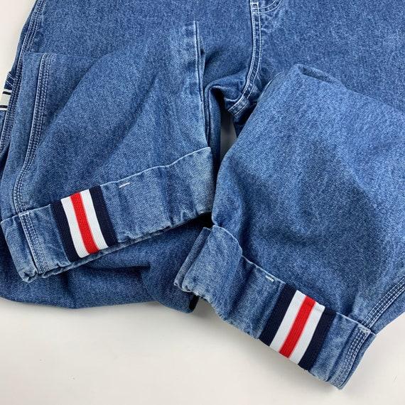 Revolt Size M Denim Striped Vintage 90s Dungaree … - image 5
