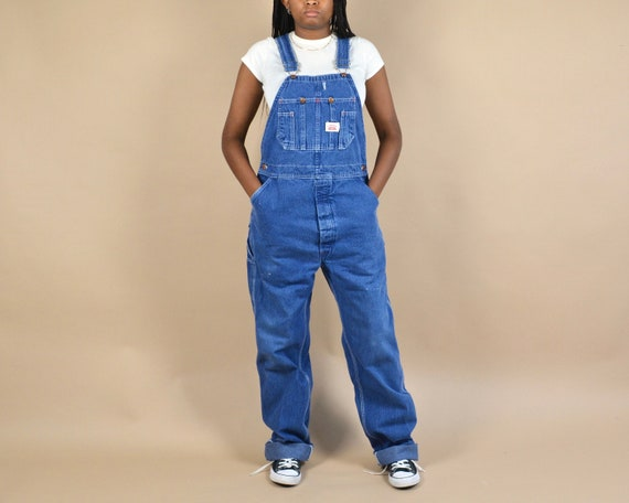 Round House Size S/M Denim Dungaree Overalls - image 1