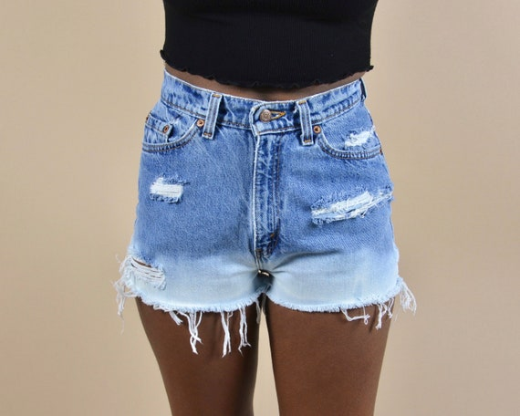 Levi's 512 Size 25 High Rise Distressed Ombre Vin… - image 2