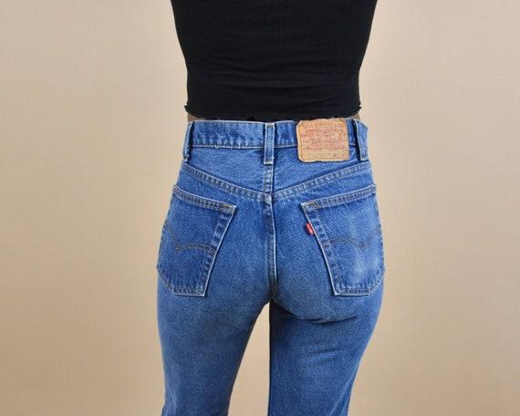 Levi's 505 Size 28 High Rise Vintage Denim Jeans