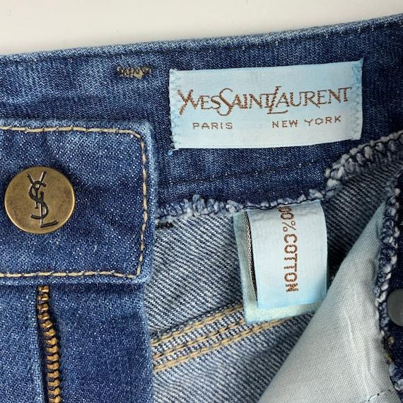 Yves Saint Laurent Size 27 Vintage Denim 70s/80s … - image 7