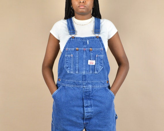 Round House Size S/M Denim Dungaree Overalls - image 2