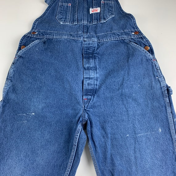 Round House Size S/M Denim Dungaree Overalls - image 5