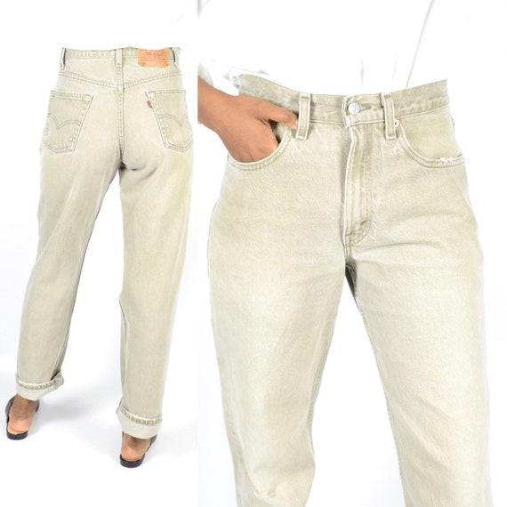 Levis 550 Size 31 Beige Denim High Rise Jeans