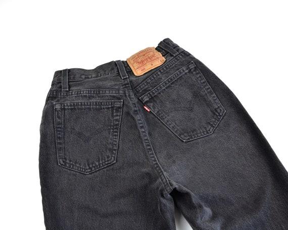 Levi's 501 Size 24 Button Fly Black Denim Jeans