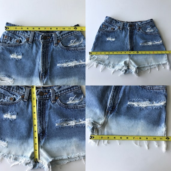 Levi's 512 Size 25 High Rise Distressed Ombre Vin… - image 3