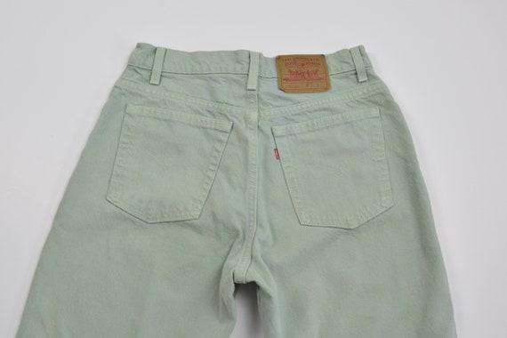 Levi's 550 Size 31 Mint Green Vintage Denim Jeans - image 3