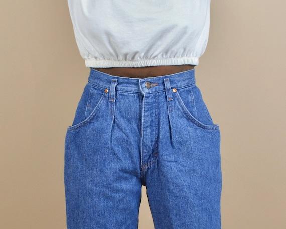 Lee Size 25 High Rise Pleated Vintage Denim Jeans